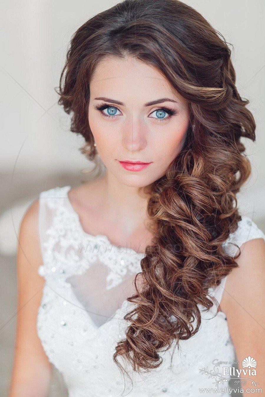 Фото прически на свадьбу из длинных волос